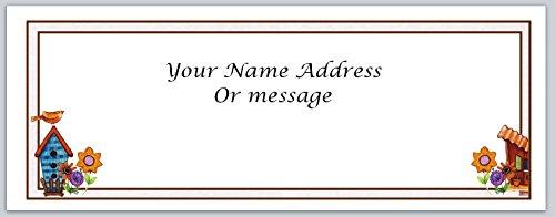 (120 Personalized Address Labels Primitive Country Birdhouse (c 454))