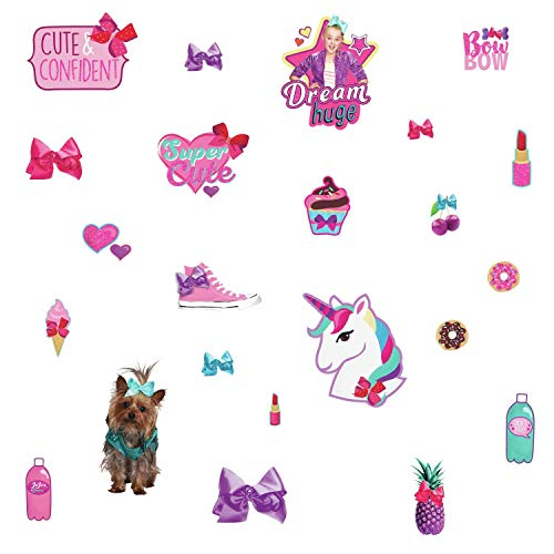 York JoJo Siwa Cute and Confident Peel & Stick 23 Wall Decals with Glitter