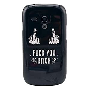 LZX Fuck You Bitch Pattern Hard Back Cover Case for Samsung Galaxy S3 Mini I8190