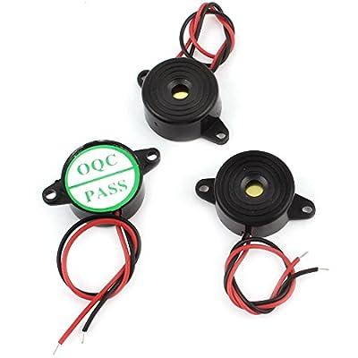 DIY Project DC3-24V Continuous Sound Electronic Alarm Buzzer 23mm 3Pcs
