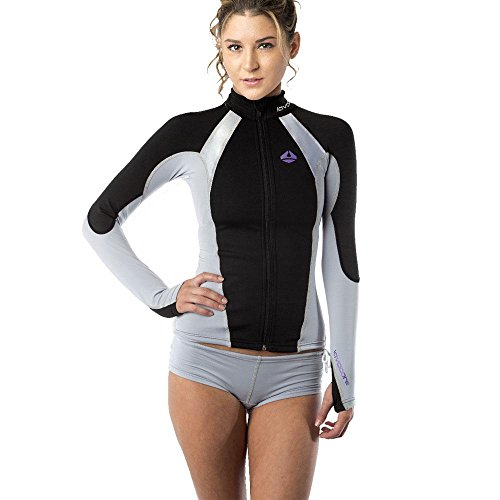 New Women's LavaCore Elite Stand Up Paddleboard (SUP) Jacket - Grey (3X-Small) for Scuba Diving, Surfing, Kayaking & Paddling by Lavacore