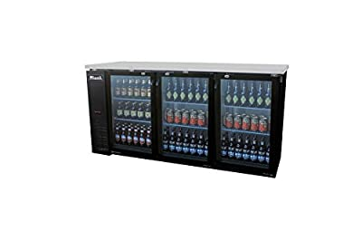 """Migali C-BB72G 73"""" Competitor Series Commercial Back Bar Cooler with 19.6 cu. ft. Capacity Glass Door Corrosion Resistant Exterior Aluminum Interior and LED Lighting in"""