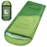 sleeping bag - VENTURE 4TH Lightweight Sleeping Bag – Ultralight Camping Sleeping Bag for Adults, Girls and Boys | Green/Green