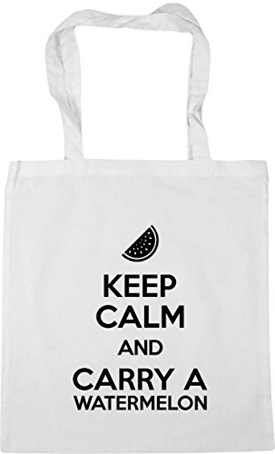 42cm x38cm and HippoWarehouse Keep Watermelon Gym Beach Shopping Calm White litres Carry Bag Tote a 10 EqP7qa