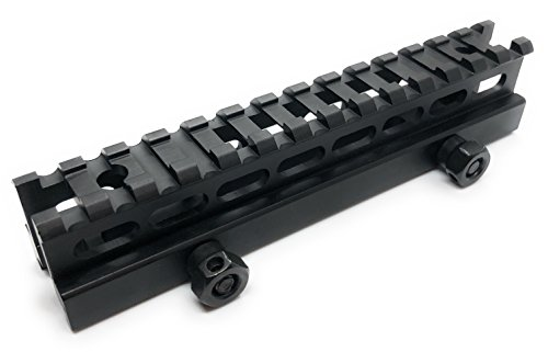 Dagger Defense 14x Slot Rail Riser Mount para Picatinny Rails Secciones, 5.75 de largo