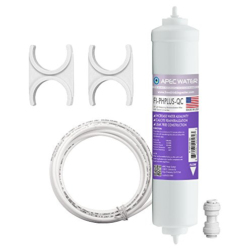 "APEC PHPLUSKIT-14 - 10"" Alkaline High Purity pH+ Calcium Carbonate Inline Filter Kit with 1/4"" Quick Connect"