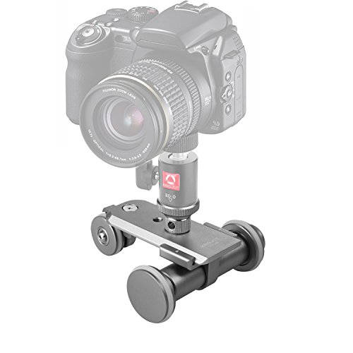 Kamisafe KINGJOY PPL-06 Mini Motorized Electric Track Slider Dolly Car 3-Wheel Video Pulley Rolling Skater for Canon Nikon Sony DSLR Camera Camcorder iPhone Samsung Huawei Cellphones by Kamisafe
