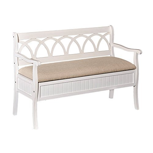 (Powell's Furniture D1017A16W Elliana Bench, White)