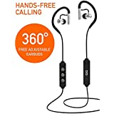 Wireless Bluetooth in-Ear Earphones or Headphones – 360° Adjustable Ear Buds & Comfortable Ear Hooks – High Definition Stereo Sound – APT-X Lossless – Noise-Cancelling – Easy Controls
