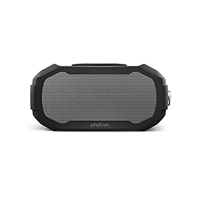 Photive S5 Compact Water Resistant Portable Bluetooth Speaker