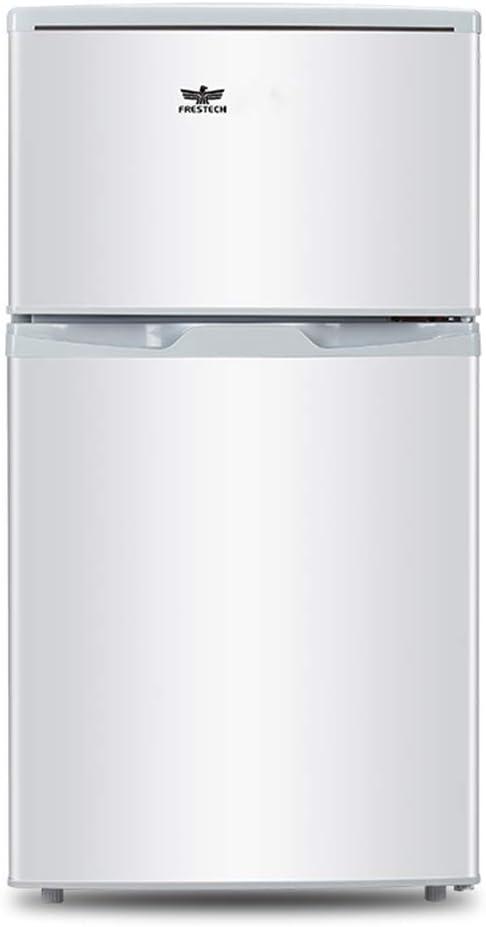 寮/オフィス/アパートのための調節可能なフィートそしてライトが付いている二重ドアの小型フリーザーの小型冷蔵庫 - 白