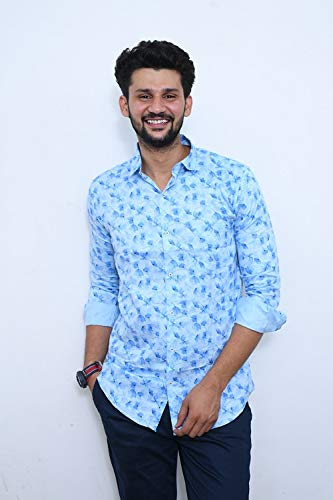 Buy Flamboyance Men S Shirt Printed Sky Blue Shirt Size Xl 42 At Amazon In