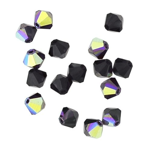 (100 pcs 4mm Swarovski 5301 Crystal Bicone Beads, Garnet AB,)