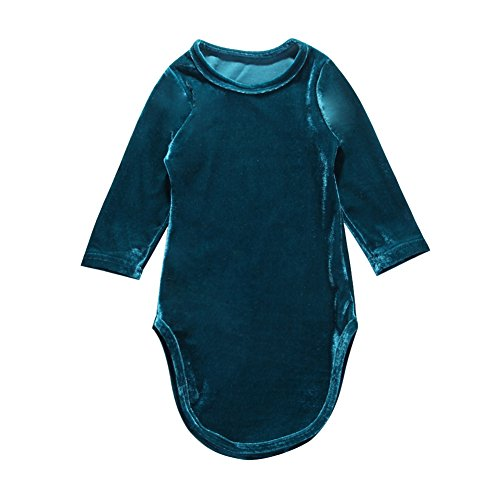 Kids Toddler Baby Girl Long Sleeve Velvet Mermaid Dress Fall Clothes 2-7Y (Green, 2-3 -