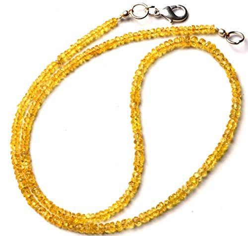 (GemAbyss Beads Gemstone 1 Strand Natural Songea Sapphire 3 to 3.5MM Facet Rondelle Beads 16 Inch Long Long Code-MVG-11338)