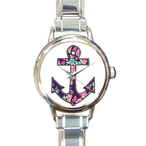 Christmas Day Gift Unique Nautical Anchor Art Round Italian Charm stainless steel Watch by Cool Anchor Watch (Image #1)