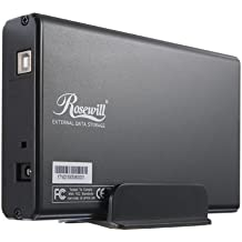 Rosewill RX35-AT-IU BLK Aluminum 3.5-Inch IDE to USB 2.0 External Enclosure (Black)
