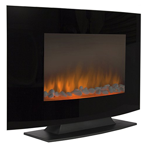 Fireplace Heater Large 1500W Heat Adjustable Electric Wall Mount & Free Standing