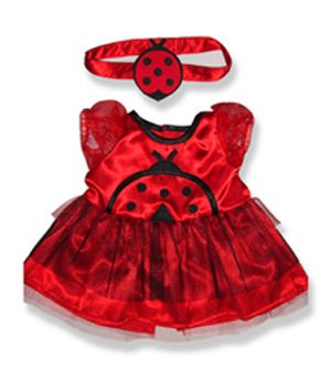 [Lady Bug Costume Outfit Teddy Bear Clothes Fit 14