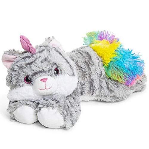 Caticorn Plush Toy Cat Unicorn Grey Striped Tabby Rainbow Tail 15 -