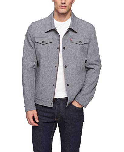 Levi's Men's Soft Shell Classic Trucker Jacket, Heather Grey, ()