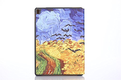 inShang 9.7 inch iPad (2017) Fundas soporte y carcasa para Apple 9.7 inch iPad (2017) ( , smart cover PU Funda ,art style + clase alta 2 in 1 inShang marca negocio Stylus pluma Wheat field
