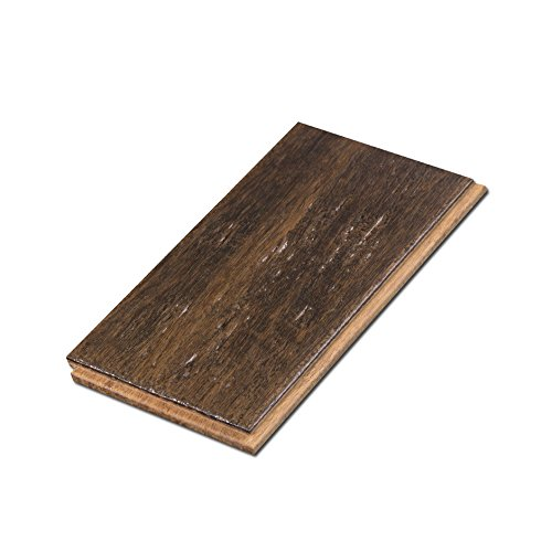 Cali Bamboo - Solid T&G Bamboo Flooring, Dark Brown Vintage Port, Heavy Distressed - Sample Size 8