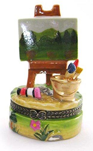 - Art Gifts Easel Green Landscape Scene Painting Trinket box