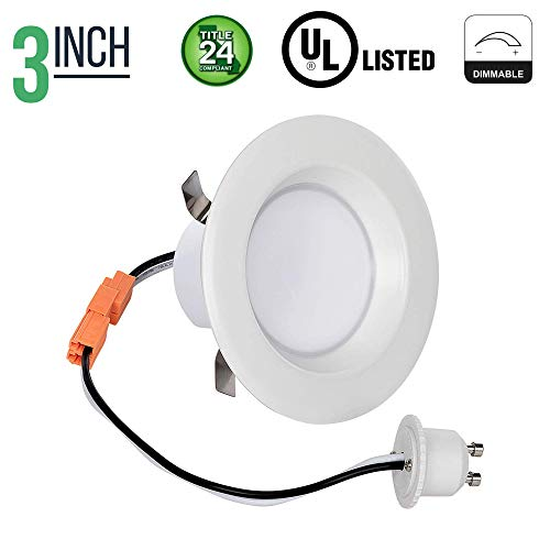 Downlight Four - 3 Inch Retrofit LED Downlight - 8 Watt - 50 Watt Incandescent Equal - Dimmable - Warm White - Integrated Smooth Trim - 120V - Title 24 Compliant - 550 Lumens (pack of 1)