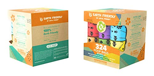 Earth Friendly Dog Waste Bags, 324 Bags, Ocean Breeze Scented,18 Refill Rolls
