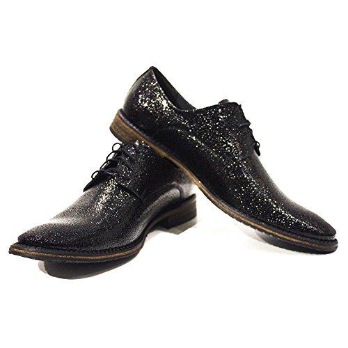 Modello Arzano - colorido a mano los zapatos de cuero italianos Oxfords Casual Zapatos de regalo del cordón a los hombres del vestido formal prima única de la vendimia