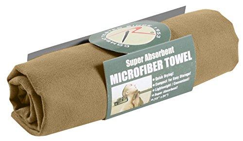 Rothco Microfiber Towel, Coyote Brown, 15