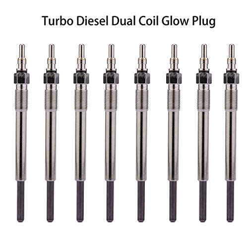 (Panel Switch for Ford 7.3L Super Duty Powerstroke Turbo Diesel Dual Coil Glow Plug Set of 8)