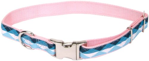 Pet Attire Ribbon Collar, 12-18-Inches, Argyle, My Pet Supplies