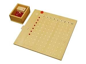 Kid Advance Montessori Multiplication Bead Board