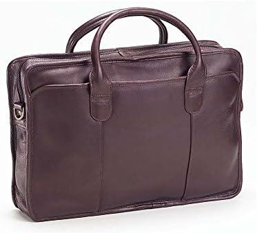 Clava Top Handle Briefcase – Leather – Vachetta Cafe – Vachetta Cafe