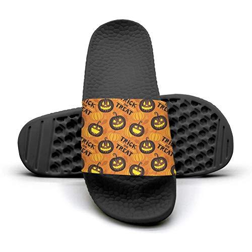 Pumpkin lantern halloween party Mens Outdoor Shower Slides Soft Slipper Open Toe -
