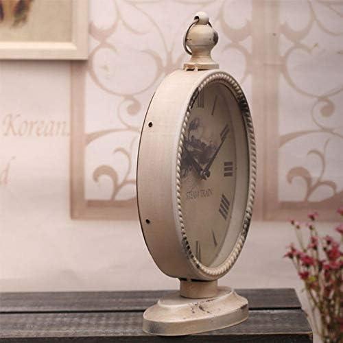 Reloj de Escritorio Blanco Oval Vintage Despertador pequeño Ultra ...