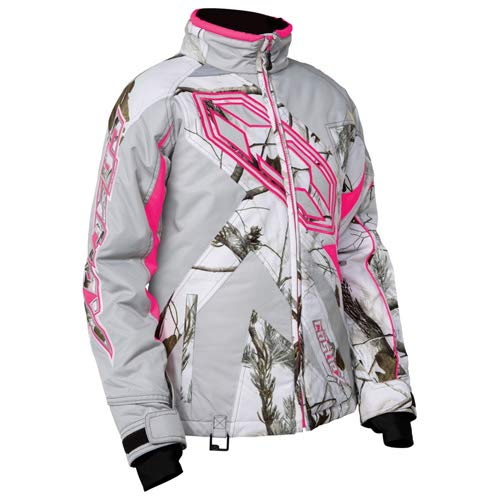 Castle X Racewear Launch Realtree G3/G4 Youth Snowmobile Jacket Realtree AP® Snow/Hot Pink MD