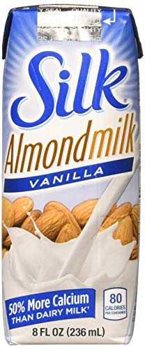 Silk Almond Milk Vanilla, 0.722 Fluid Ounces (Pack of 18)