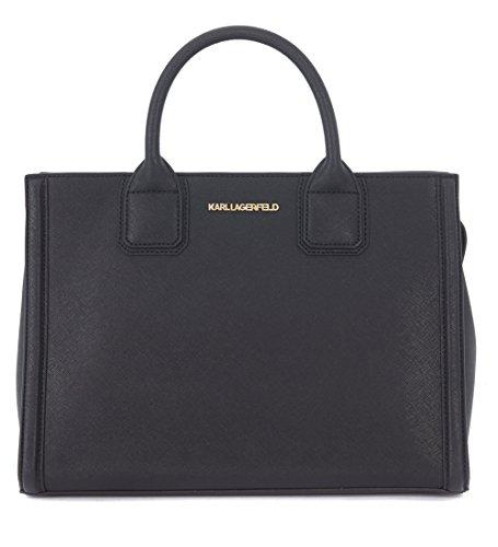 Borsa a mano Karl Lagerfeld Klassic in pelle saffiano nera