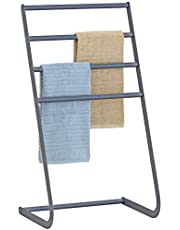 MyGift 32 Inch Freestanding Metal Towel Rack, 4 Tier Laundry Drying Stand