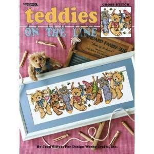 Teddies on the Line - Cross Stitch Pattern
