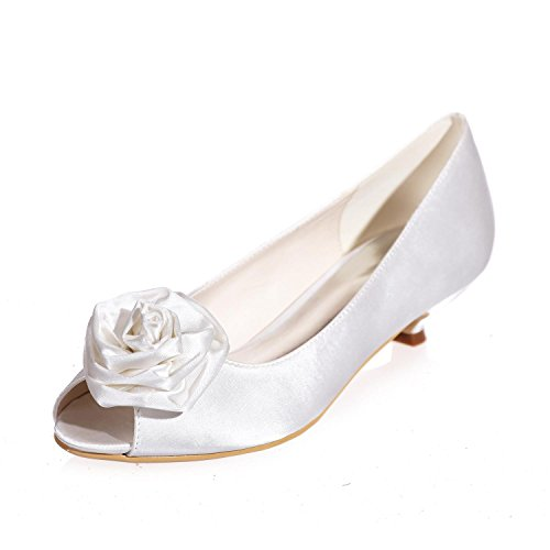 0700 More Spring White 15 L Toes Winter Colors available amp; Peep Women'S Party Shoes Wedding Fall Silk Summer YC Night HawPHq0