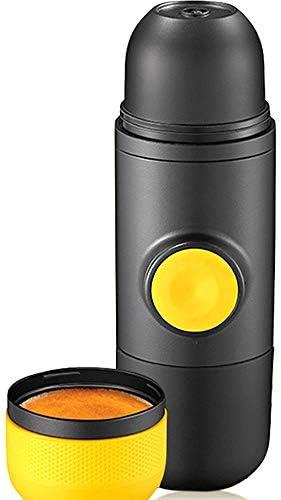Ouqian-KT Tragbare Espressomaschine Reise-Kaffeekanne tragbare Mini-Kapsel-Kaffeemaschine beweglichen Kapsel-Kaffeemaschine Reisen Kaffeemaschine (Farbe : Black, Size : 6x7x17.5cm)