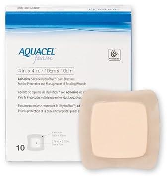 Convatec Aquacel Ag Foam Adhesive Dressing 4 X4 Outer 2 75 X2 75