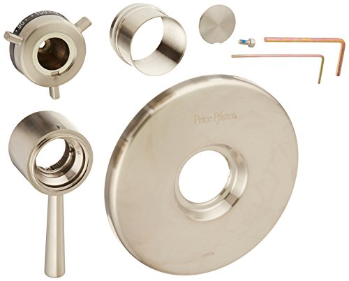 Pfister R89-1TUK R89-1TUK 1/2-Inch Thermostatic Valve Only Trim, Brushed Nickel - 4in Thermostatic Shower