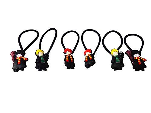 Lucius Malfoy Death Eater Costume (AVIRGO 6 pcs Elastic Hair Bands Hairband Hairbands Ponytail Holders Set # 354 - 5)