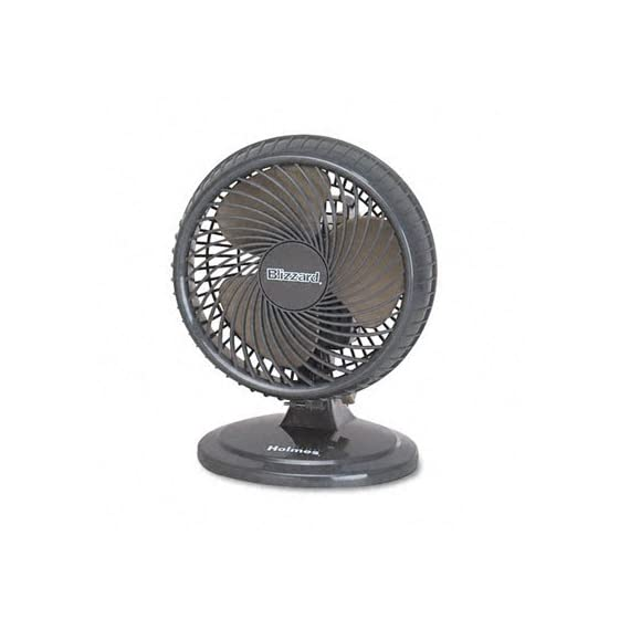 Holmes 8-Inch Fan | Lil' Blizzard Oscillating Table Fan, Black 1 Two powerful speed settings Oscillation for wide coverage area Tilt-adjustable head allows you to direct airflow wherever you want it
