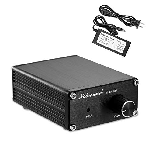 Nobsound 100W Subwoofer Amplifier Digital Power Sub Amp Audio Mini Bass Amp with Power Supply (Black) ()